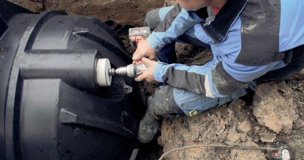 montáž čističky odpadních vod